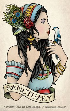 gypsy girl holding birds - Yahoo Search Results