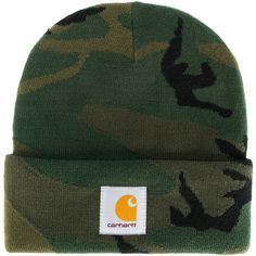 ab20cece395 Carhartt camouflage beanie ( 55) ❤ liked on Polyvore featuring men s  fashion