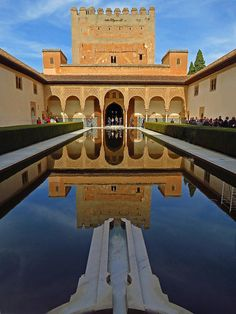 The Alhambra Palace in Granada, Andalusia, Spain- world heritage site