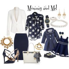Mommy and Me ... Classic Navy & White