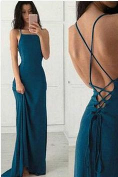 a411f8882d93 Halter Backless Simple Cheap Chiffon Long Prom Dress with Criss Cross, M174