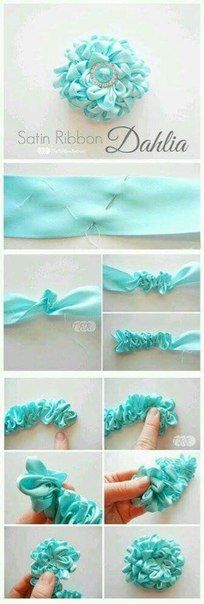 Discover thousands of images about DIY Tutorial DIY Ribbon Crafts / DIY Ribbon Accessories - Bead&Cord Ribbon Art, Fabric Ribbon, Ribbon Crafts, Flower Crafts, Fabric Crafts, Satin Ribbons, Wired Ribbon, Tulle Fabric, Satin Ribbon Roses