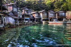 Funaya (Boat House) in Ine Cho, Northern Kyoto 京都 伊根町の舟屋