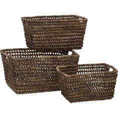 "Barika Totes in Storage Baskets, Bins | Crate and Barrel. 14.5""Wx18.5""Dx10""H. Large. $30."