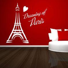 Paris Bedroom For Teenage Girl Recreate The Look Paris - Wall decals teenage girl