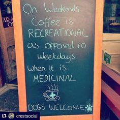 Coffee... Recreational or medicinal?   #coffee