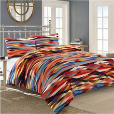 Waves 100% Cotton Printed Duvet Cover Set