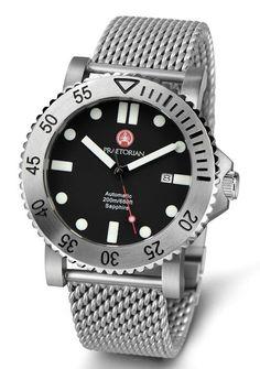 PRAETORIAN Legionnaire Automatic Watch - Milanaise/Mesh Steel Bracelet 200m