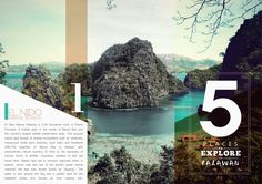 Travel Brochure by Kristina Bolante, via Behance