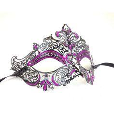 Filigree Metal Masquerade mask- Luxury Venetian Filigree Laser Cut... ($33) ❤ liked on Polyvore featuring costumes, masks, masquerade, carnival halloween costumes, carnival costumes, adult costumes, party costumes and sexy adult halloween costumes