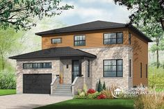 MODERN 4 BEDROOM COTTAGE WITH VIRTUAL TOUR  Large Modern House plan, open floor plan layout, large pantry, garage   http://www.drummondhouseplans.com/house-plan-detail/info/pandora-contemporary-1003129.html