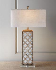 Mirrored Capiz Lamp at Neiman Marcus.
