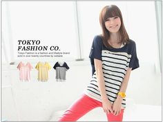 Tokyo Fashion- Set: Lace-Trim Striped Top + Tank Top Hip Hip, Tokyo Fashion, The Twenties, Lace Trim, Tank Tops, Pink, Women, Halter Tops, Pink Hair
