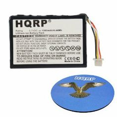 HQRP® Rechargeable Battery plus HQRP® Coaster;