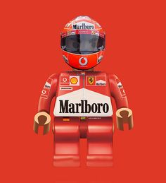 """""""Michael Lego Schumacher '04    The greatest driver of all time! Michael Schumacher in Lego form from Ferrari days 2004... or is it the Stig?"""""""
