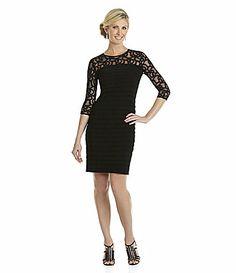Adrianna Papell Scroll Lace Dress #Dillards