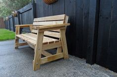 Wooden Garden Seat Bench Plans Modfication