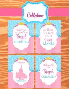 PRINCESS Party - Princess SIGNS - Princess Birthday