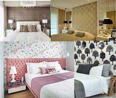 Há tantas opções para fazer a cabeceira da sua cama ser a coisa mais linda de se ver! Vamos ver algumas  ideias bacanas e diferentes?