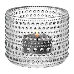 Iittala Kastehelmi Votive Holder, Clear, Made of pressed glass with impressive hobnail detailing, we love how this pressed glass votive holder brings a fun element of texture to its surroundings. Glass Votive Holders, Votive Candles, Piano Gifts, Danish Design Store, Revolution, Cocktail Glass, Circle Design, Oil Lamps, Diy Wall Art