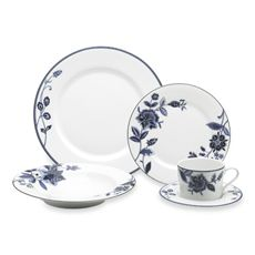 Mikasa Indigo Bloom Dinnerware - Bed Bath & Beyond