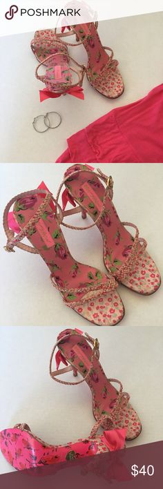 Betsey Johnson heels Adorable heels! They are perfect for Valentine's Day! Like new condition, no signs of wear. Betsey Johnson Shoes Heels