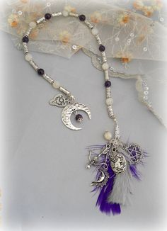 Witch's Ladder with goddess Diana theme. Very lovely Etsy shop!