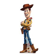 Full Color Life-size Cardboard Standee of Woody from Toy Story.