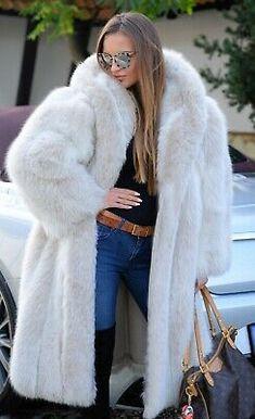 Picture 3 of 9 Fox Fur Coat, Fur Coats, Sable Coat, Long Jackets, Fur Jackets, Fabulous Furs, Vest Coat, White Fur, Fur Fashion