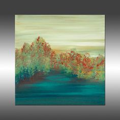 Views of Nature 35 - Art Painting Original Abstract Painting Industrial Canvas Wall Art Modern Art Paintings, Abstract Landscape Painting