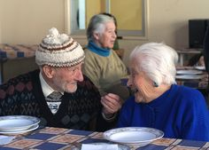 Jubilados chilenos en un hogar de anciano Retraités chiliens dans une maison de repos