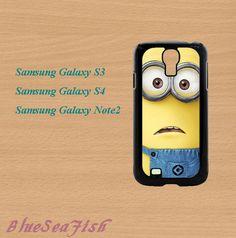 Despicable Me Minion--Samsung Galaxy S3 case,Samsung Galaxy S4 case,Samsung Galaxy Note 2 case,in plastic,cute samsung s3 case,cute s4 case by BlueSeaFish, $14.99