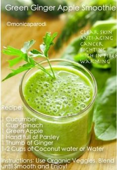 Green Ginger Apple Smoothie Recipe