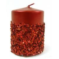 Beautiful Christmas Candle #christmas #gift #candle Christmas Candles, Christmas Presents, Christmas Colors, Beautiful Christmas, Pillar Candles, Special Events, Wax, Home And Garden, Sparkle