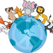 World Animal Day was started in 1931 at a convention of ecologists in Florence as a way of highlighting the plight of endangered species. October was chosen as World Animal Day as it is the Fea. Scrapbook Images, Pet Day, Peace On Earth, Animal Cards, Animals Of The World, Cute Illustration, Funny Cute, First Love, Pikachu
