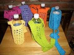 Water bottle carrier!!   May have to get these made before Girl Scout camping!