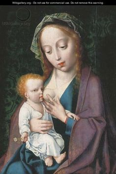 Joos van Cleve, Madonna and Child The PLAGUE OF BOSOM DISPLACEMENT SYNDROME ~ strikes another victim