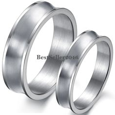 Cancave Stainless Steel Couples Engagement Wedding Band Couples Promise Ring #UnbrandedGeneric #Band