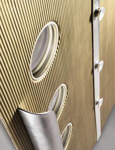 Pair of aluminum doors by Jean Prouve, 1953