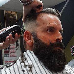 beard and hair style