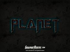 GraphicRiders | Sci-fi style – Planet (free photoshop layer style, text effect) #graphicriders