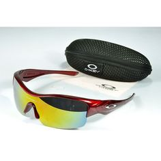 70905bfdd8 Cheap Oakley Straight Jacket Sunglasses yellow-blue Iridium deep red outlet  on sale