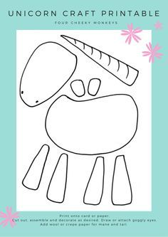 Unicorn craft activity - more ideas and free unicorn printables on the blog
