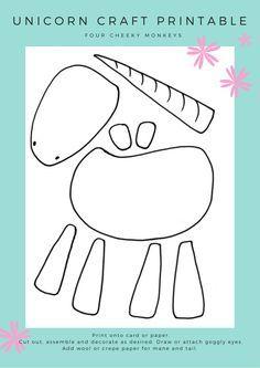 Unicorn craft activity - more ideas and free unicorn printables on the blog