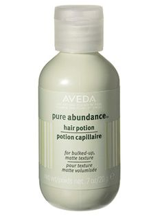 Aveda Pure Abundance Hair Potion - InStyle Best Beauty Buys 2007 Winner #instylebbb    This white powder disappears right into your hair, adding loads of sexy texture and volume. In addition to bulking up your strands, it absorbs excess oil and gives hold and lift.  $23/.7 oz.