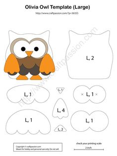 48 Ideas Baby Diy Sewing Quiet Books For 2019 Felt Animal Patterns, Felt Crafts Patterns, Owl Patterns, Applique Patterns, Stuffed Animal Patterns, Stuffed Animals, Owl Applique, Felt Owls, Felt Animals