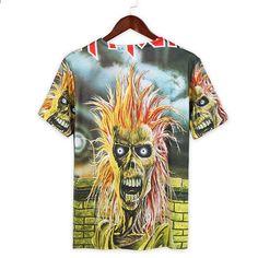 f303f9dbab74 Gothic Toppar Rock tshirts rap hip hop tröjor tee kläder Märke T-shirt  kvinnor Iron