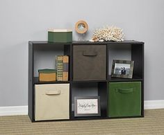 Storage Shelves Furniture 6 Cube Garage Organizer Modular Bins Dorm Room Home  #StorageShelvesFurniture