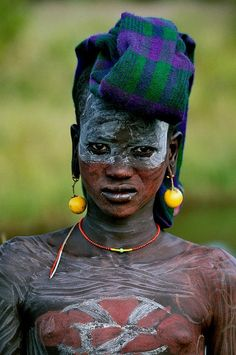 Africa | A young Surma man, Omo Valley, Ethiopia | © Rudi Roels, via Flickr