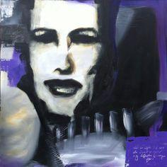 Acrylic paint on canvas  by Elisabeth Takvam.  100 cm x 100 cm
